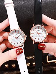 Недорогие -Жен. Кварцевые На каждый день Мода Черный Белый Коричневый Искусственная кожа Китайский Кварцевый Черный Белый Коричневый Новый дизайн Повседневные часы 1 ед. Аналоговый Один год Срок службы батареи