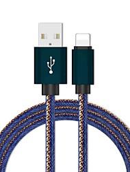 levne -blesk adaptér / kabel 1,0 m (3ft) pletené / rychlé nabíjení oxford tkanina usb kabel adaptér pro iPhone
