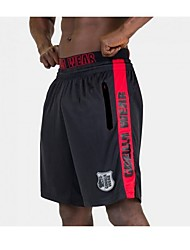 abordables -Hombre Deportivo Shorts Pantalones - A Rayas Negro
