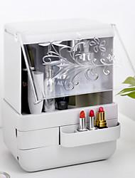 levne -kosmetické skladovací box transparentní jednoduchý velký stolní prachotěsný kryt šperky péče o pleť produkty stojan