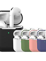 Недорогие -Защитный чехол Простой Цветной Apple Airpods Противоударное покрытие Скретч-доказательство Полный силикон для тела / Силиконовые / силикагель