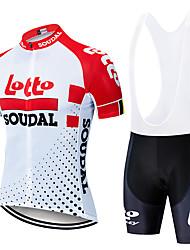 Недорогие -2019 новый лото тур де франция с короткими рукавами комбинезон для верховой езды / велосипед мужчины и женщины с коротким влагопоглощением / влагу велосипед куртка из джерси
