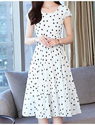 halpa -naisten polvipituinen tunika mekko sifonki valkoinen musta m l xl xxl