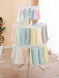 abordables -plancher de séchage de bébé plancher pliant en acier inoxydable enfants chambre cintre