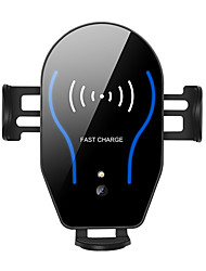 Недорогие -автомобильное беспроводное зарядное устройство, кронштейн для быстрой зарядки qi 10w, автоматическое телескопирование / type-c & micro двойной интерфейс зарядки, подходящий для iphone / samsung / noki
