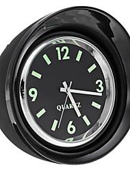 Недорогие -x65 мини светящийся автомеханик кварцевые часы серебристые часы с цифровым указателем на приборной панели часов - черный