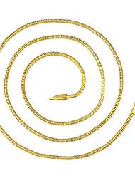 Недорогие -Муж. Ожерелья-цепочки Классический дешево Классика Классический Мода Латунь Позолота Золотой 46,56,61,66 cm Ожерелье Бижутерия 1шт Назначение Повседневные Офис