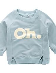 abordables -bébé Garçon Basique / Chic de Rue Imprimé Manches Longues Coton Pull à capuche & Sweatshirt Bleu