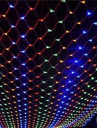 Недорогие -2 * 3 м светодиодная рыболовная сеть в форме творческой полосы светодиодные украшения 8 режимов 220 В ес разъем открытый водонепроницаемый