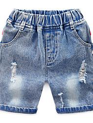 abordables -Enfants Garçon Basique / Chic de Rue Imprimé Imprimé Coton Jeans Bleu clair
