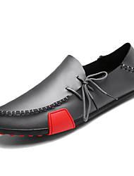 abordables -Homme Chaussures de confort Cuir Printemps Simple Mocassins et Chaussons+D6148 Respirable Noir / Gris / Marron