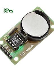 Недорогие -Модуль часов реального времени ds1302 3pcs с кнопкой клетки cr2032