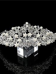billige -Krystall / Rhinestone / Perle / Legering Tiaras / Hodepryd / Hodeplagg med Perle / Gummi / Perledetaljer 1 Deler Bryllup / Bursdag Hodeplagg