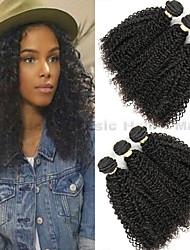abordables -Lot de 3 Cheveux Brésiliens Kinky Curly Cheveux Vierges Naturel Tissages de cheveux humains Bundle cheveux One Pack Solution 8-28 inch Couleur naturelle Tissages de cheveux humains Cosplay Classique