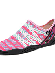 Χαμηλού Κόστους -Γυναικεία Ελαστικό ύφασμα Καλοκαίρι Αθλητικό / Καθημερινό Αθλητικά Παπούτσια Παπούτσια Upstream Επίπεδο Τακούνι Στρογγυλή Μύτη Γκρίζο / Μπλε / Ροζ