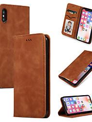 Недорогие -чехол для яблока iphone xr xs max флип с подставкой держателем карты чехлы для тела сплошной цвет мягкая искусственная кожа x xs 8 плюс 8 7 плюс 7 6 плюс 6 6 splus 6s