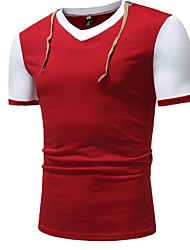 billige -Herre - Ensfarvet T-shirt Sort L
