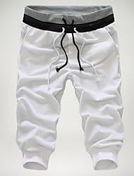 Недорогие -Муж. Классический Чино Брюки - Разные цвета Черный Серый Винный L XL XXL