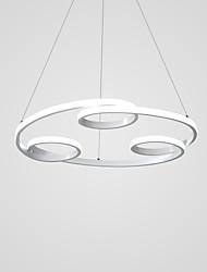 abordables -Cercle Anneau Lustre Lumière d'ambiance Finitions Peintes Métal Créatif, LED 110-120V / 220-240V Blanc Crème / Blanc Neige