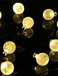 preiswerte -1 Satz LED Laterne Solar Lichterkette 5 Meter 20 Licht Blase Ball im Freien Wasser Licht