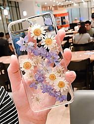 Недорогие -Кейс для Назначение Apple iPhone XR / iPhone XS Max / iPhone X Прозрачный / С узором Кейс на заднюю панель Прозрачный / Цветы Мягкий Силикон