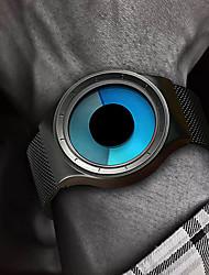 Недорогие -Муж. электронные часы Цифровой Нержавеющая сталь Черный / Серебристый металл 30 m Защита от влаги Творчество Повседневные часы Аналоговый Блестящие Мода - Черный Серебряный / Один год
