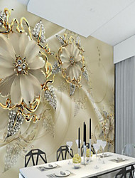 cheap -Wallpaper / Mural / Wall Cloth Canvas Wall Covering - Adhesive required Art Deco / Pattern / 3D