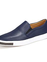 abordables -Homme Chaussures de confort Polyuréthane Eté Mocassins et Chaussons+D6148 Noir / Bleu de minuit