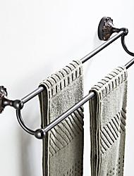 Недорогие -вешалка для полотенец черного цвета с тиснением, кантри / античная латунь, 1 шт.