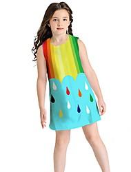 お買い得  -子供 女の子 虹色 ドレス ブルー