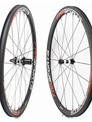 Недорогие -FARSPORTS 700CC Колесные пары Велоспорт 25 mm Шоссейный велосипед Углеродное волокно Подходит для клинчерной покрышки / бескамерной шины 20/24 Спицы 38 mm
