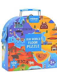 tanie -Drewniane puzzle Drewno 100 pcs Wszystko Zabawki Prezent