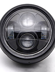 Недорогие -универсальный мотоцикл 12 В светодиодный металлический прожектор фары проектор ремонт сборки