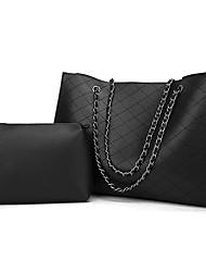 Χαμηλού Κόστους -Γυναικεία Τσάντες PU Σετ τσάντα 2 σετ Σετ τσαντών Συμπαγές Χρώμα Γκρίζο / Αμύγδαλο / Καφέ