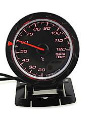 Недорогие -60-миллиметровый светодиодный температурный датчик температуры с стендом автоматический автомобильный автомобильный датчик с красным&усилитель; белый свет для 12v гоночный автомобиль