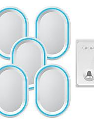 Недорогие -беспроводной интеллектуальный пульт дистанционного управления дверной звонок домой с автономным питанием пожилых беспроводной пейджер один на пять дверных звонков без батареи