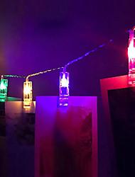 Недорогие -1.5 м 10 светодиодов струнные светильники дома на стене карты клипы фото колышки струнный свет лампы в помещении декор моды струнный светильник 3 В 1 шт.
