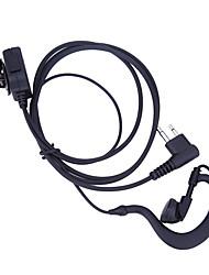Недорогие -2-контактная акустическая трубка для наушников микрофон PTT гарнитура для Motorola радио gp88 gp300 рация наушник