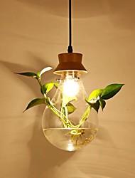 Недорогие -QIHengZhaoMing Подвесные лампы Рассеянное освещение Окрашенные отделки Металл Стекло 110-120Вольт / 220-240Вольт