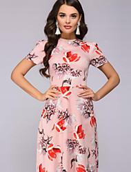 abordables -Mujer Elegante Corte Swing Vestido - Estampado, Floral Maxi
