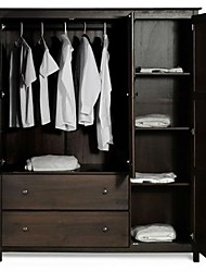 Недорогие -эспрессо отделка деревом спальня шкаф шкаф шкаф шкаф