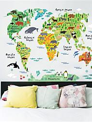 Недорогие -Декоративные наклейки на стены - Карта стены стикеры Карты В помещении / Детская