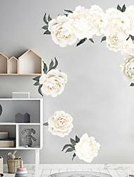 Недорогие -белые красивые цветы наклейки на стены - слова&ампер цитаты стикеры на стенах персонажей кабинет / кабинет / столовая / кухня