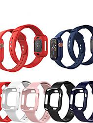 Недорогие -SmartWatch группа чехлы для Apple Watch серии 4/3/2/1 Apple силиконовой лентой силиконовые чехлы iwatch мода мягкий спортивный ремешок
