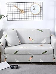 Недорогие -шикарный перо с принтом эластичный встроенный цельный диван чехол чехлы очень эластичный полный диван протектор кресло кресло 3 4-х местный секционный диван
