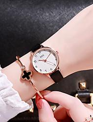 preiswerte -Damen Quartz Uhr Freizeit Modisch Schwarz Weiß Braun TPU Chinesisch Quartz Weiß Schwarz Rosa Neues Design Armbanduhren für den Alltag 1 Stück Analog Ein Jahr Batterielebensdauer