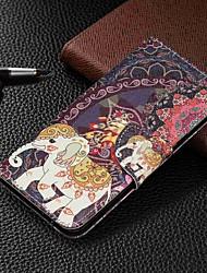 baratos -Capinha Para Samsung Galaxy Galaxy A50(2019) / Samsung Galaxy A70 (2019) Carteira / Porta-Cartão / Com Suporte Capa Proteção Completa Animal Rígida PU Leather para Galaxy A7(2018) / Galáxia A10