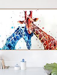 Недорогие -Отпечаток в раме Холст в раме С принтом - Абстракция Животные Полистирен Масляные картины Предметы искусства