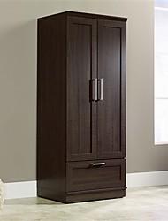 Недорогие -шкаф для спальни шкаф шкаф для одежды с отделкой темно-коричневого дуба