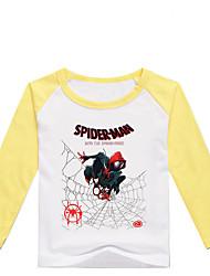 tanie -Dzieci Brzdąc Dla chłopców Podstawowy Nadruk Nadruk Długi rękaw Bawełna Spandeks T-shirt Czarny